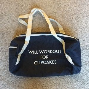 Will Work Out for Cupcakes gym bag